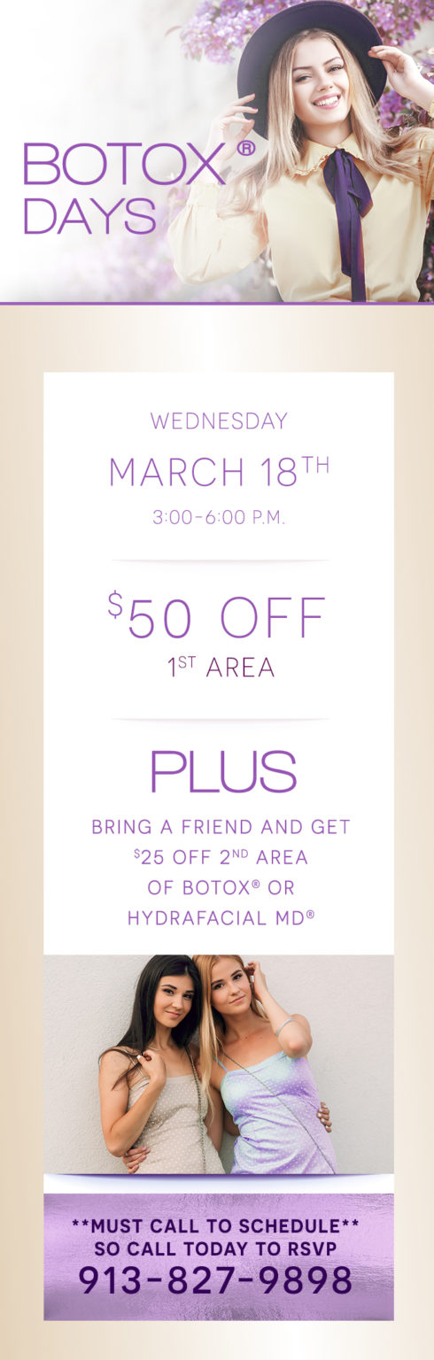 , Don't miss our March Botox Day!